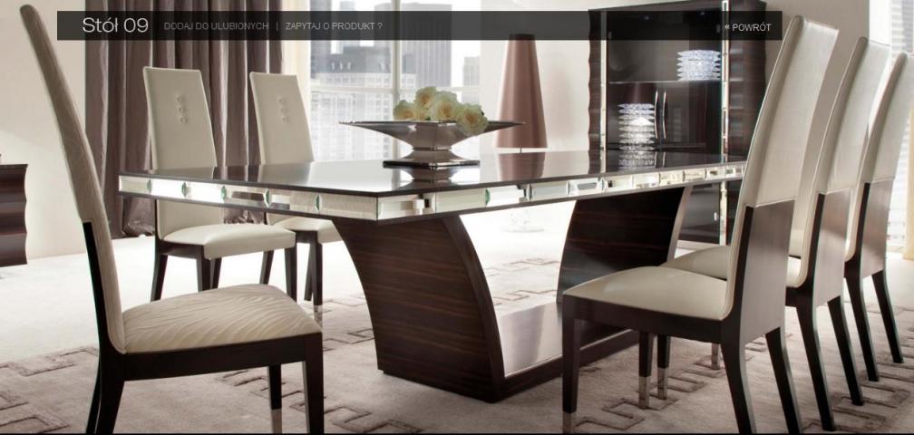 kolekcja stołów i  krzeseł