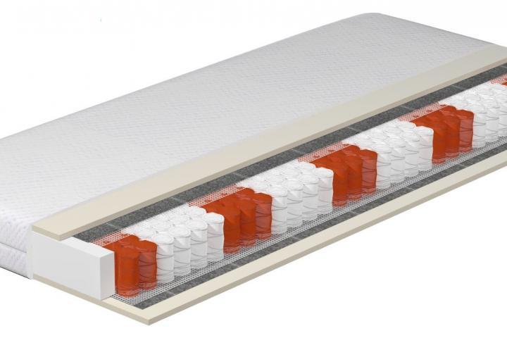 MATERAC PRESTIGE -  LUX (sprężyny kieszeniowe + pianka HR+ obustronny lateks)